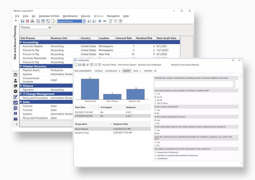 AutoAudit internal audit management software enables risk based approach
